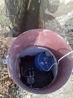 Монтаж кессона и оборудования на скважину